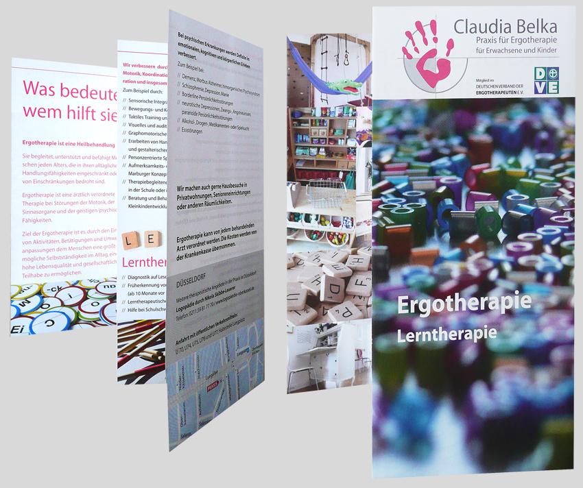 Infoflyer Ergotherapie Claudia Belka