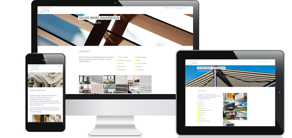 Darstellung der Webseite von Brors Raumdesign
