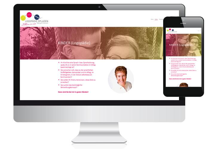Bild von Website Logopädie Opladen