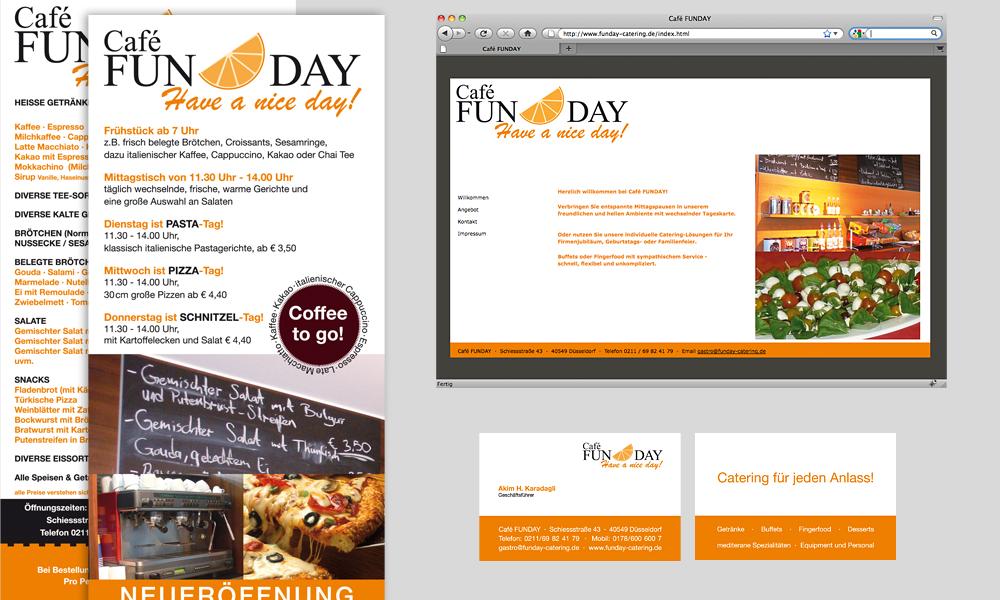 CAFE FUNDAY | Geschäftsausstattung