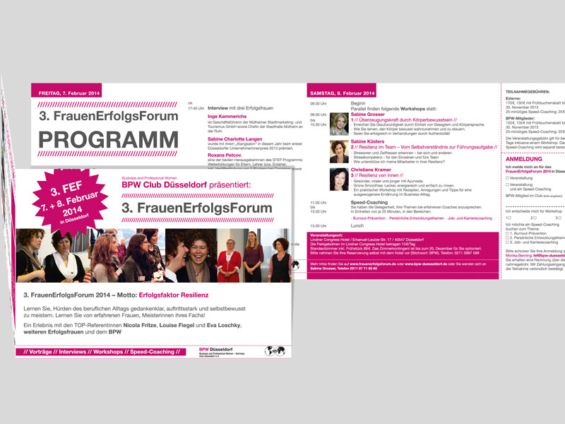 FRAUENERFOLGSFORUM | Programmheft