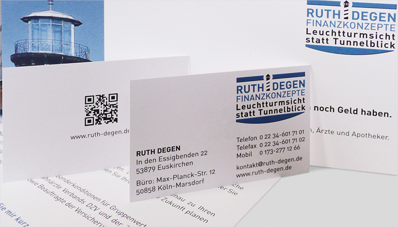Ruth Degen Finanzkonzepte Visitenkarte