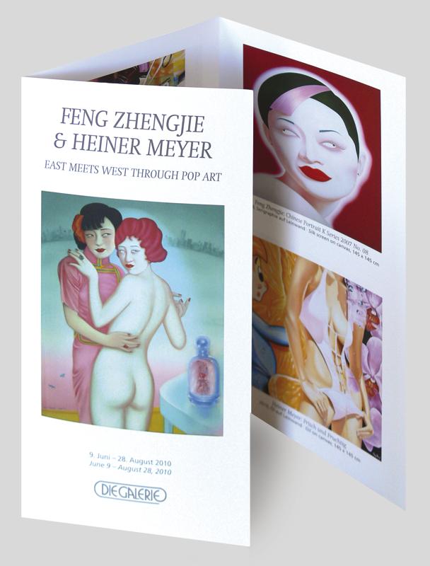 Ausstellungs-Flyer von DIE GALERIE FRANKFURT