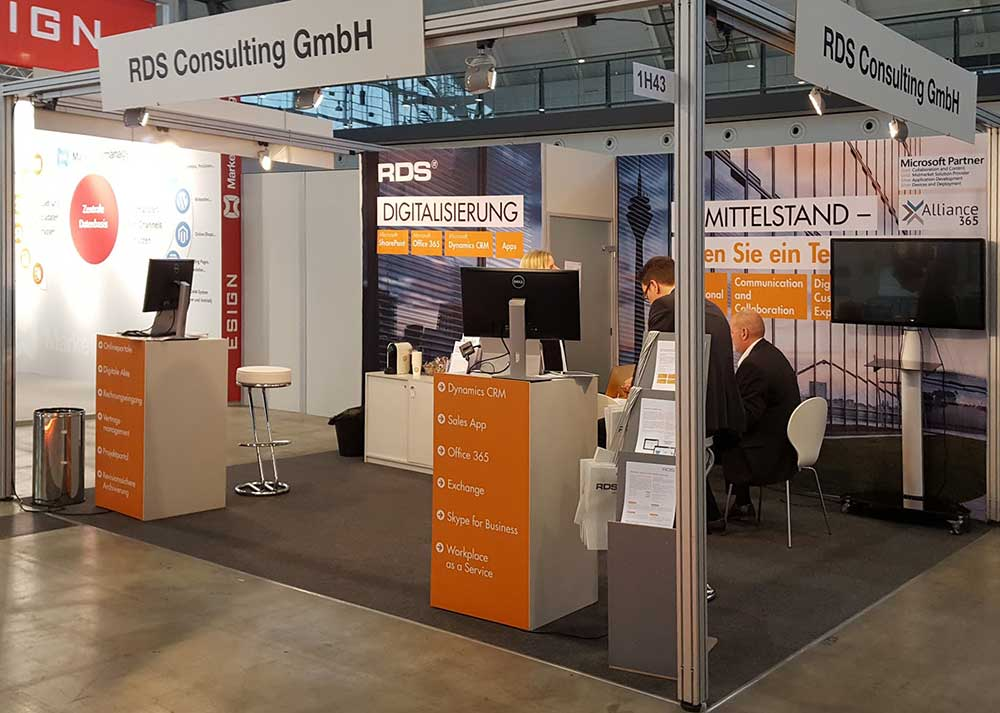 Messestand RDS Consulting auf der IT & BUSINESS
